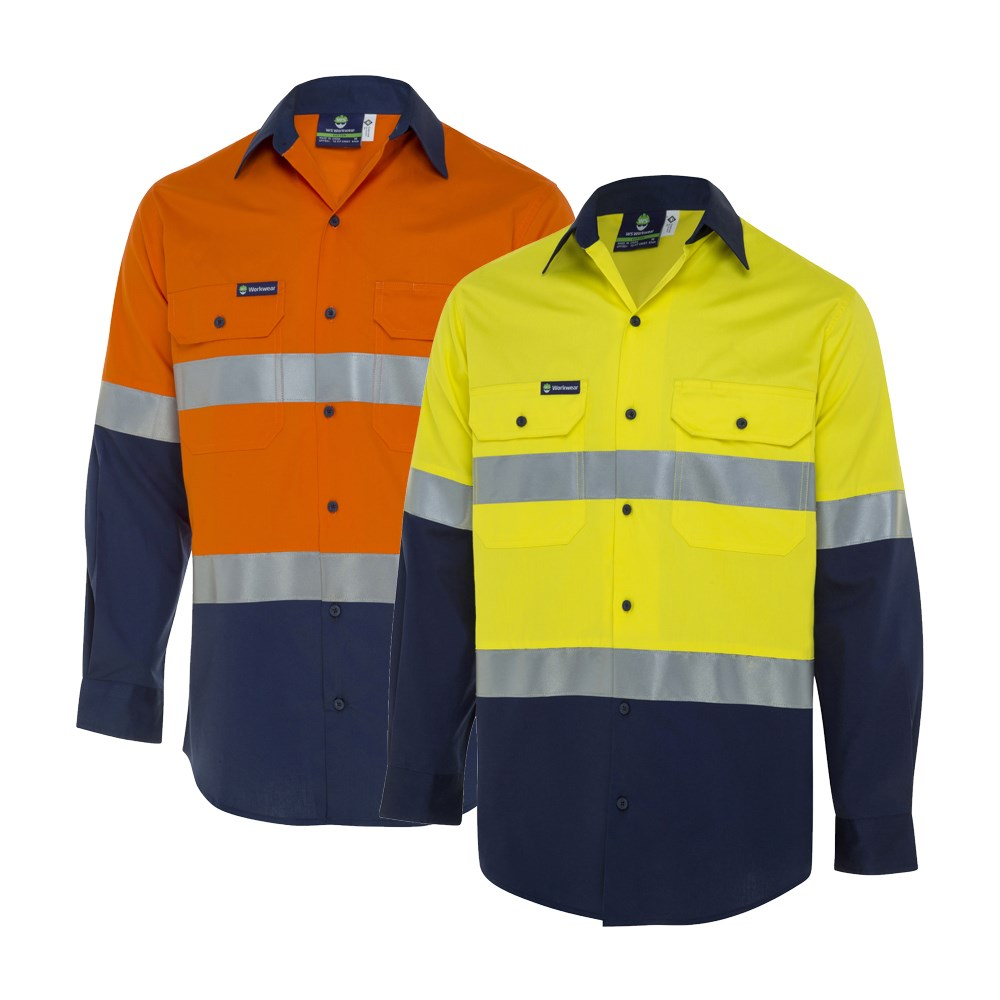 Ws Workwear Koolflow Mens Hi Vis Button Up Shirt With